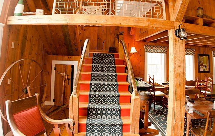 Great Roomof Farmhouse Inn in Blue Hill, ME