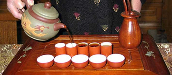 Tea tasting at Voss Inn in Bozeman, MT