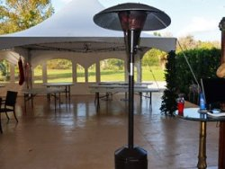 Patio Heater Rental at Danville B&B