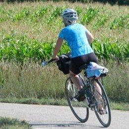 Lady riding bike
