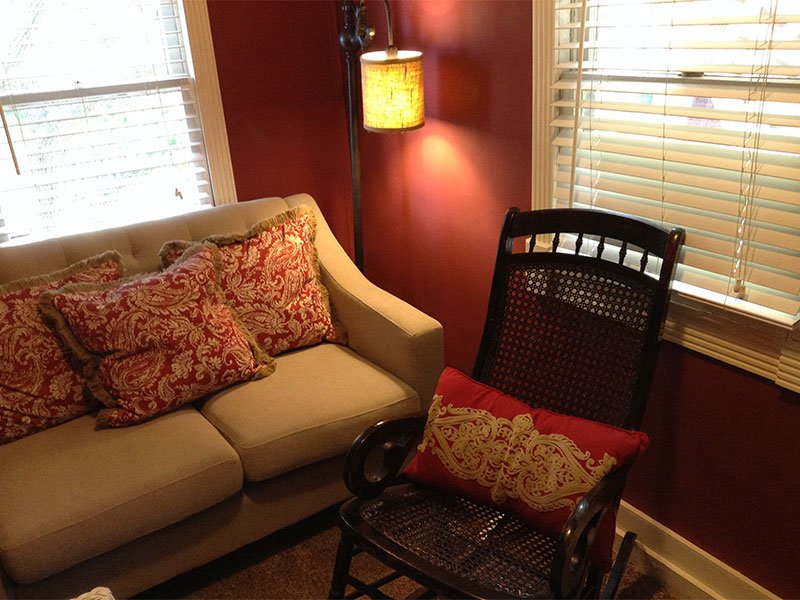 Couch and rocking chair