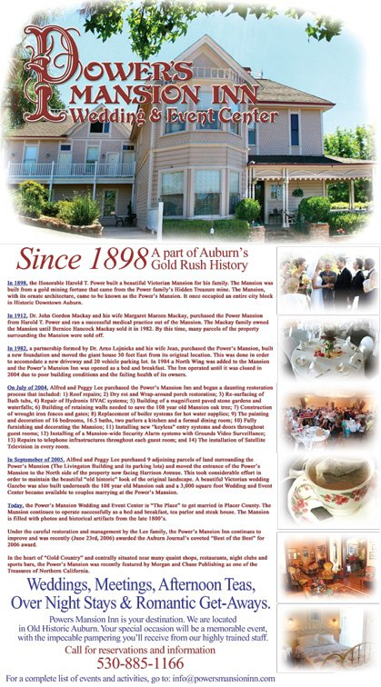 Auburn Journal, Chronology Ad, January 2007