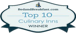 bedandbreakfast.com top 10 culinary inns winner