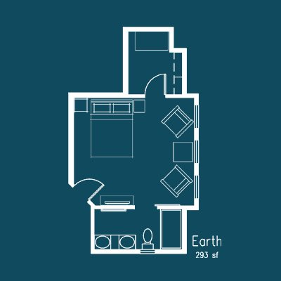 earth room floor plan at Le Puy Inn in Newberg, Oregon