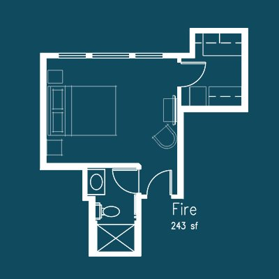 fire room floor plan at Le Puy Inn in Newberg, Oregon