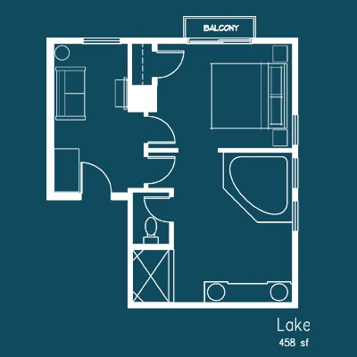lake room floor plan at Le Puy Inn in Newberg, Oregon