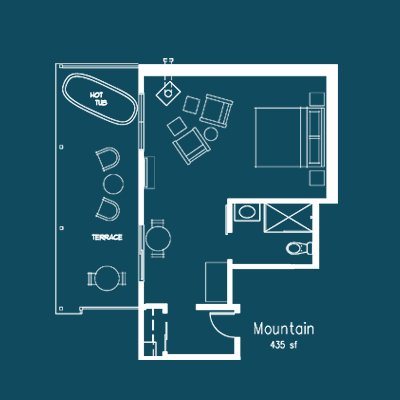 Mountain floor plan at Le Puy Inn in Newberg, Oregon