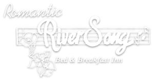 Romantic River Song Logo White