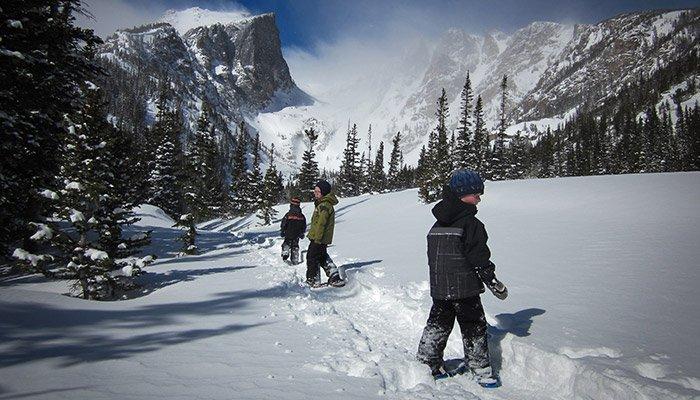 Snowshoeing near Estes Park