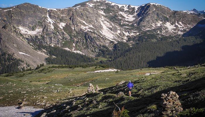 hiking on trails near McGregor Mountain lodge