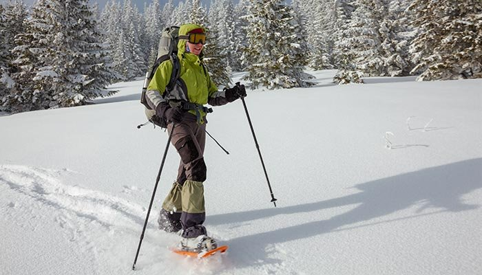 Guided snowshoe tour package at McGregor Mountain Lodge