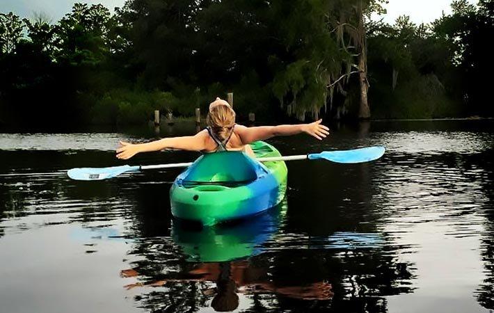 kayaking near Bayou Haven