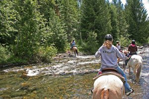 horseback riding in North Idaho