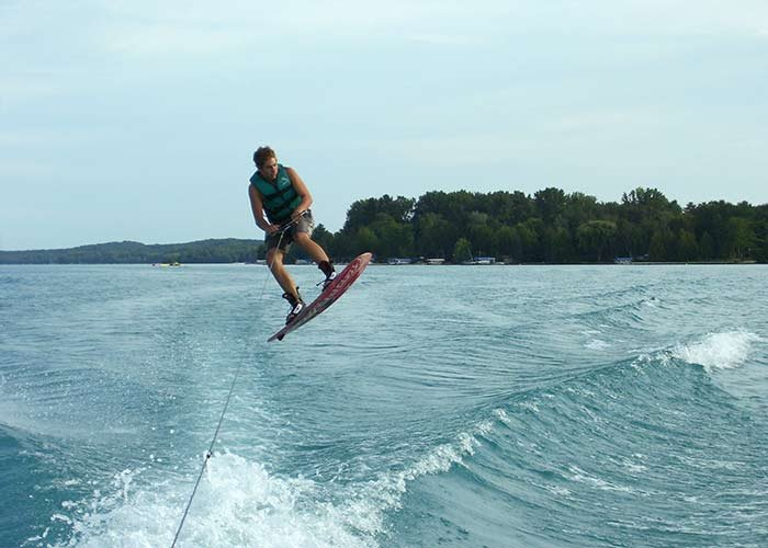 Torch lake water activities the torch lake b b for Bumping lake cabin rentals