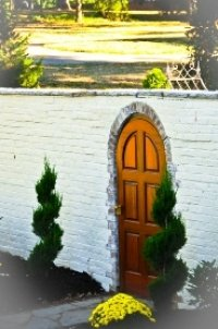 Doorway in a stone wall