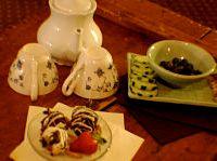 romantic snack and tea