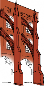 architectural sketch buttresses