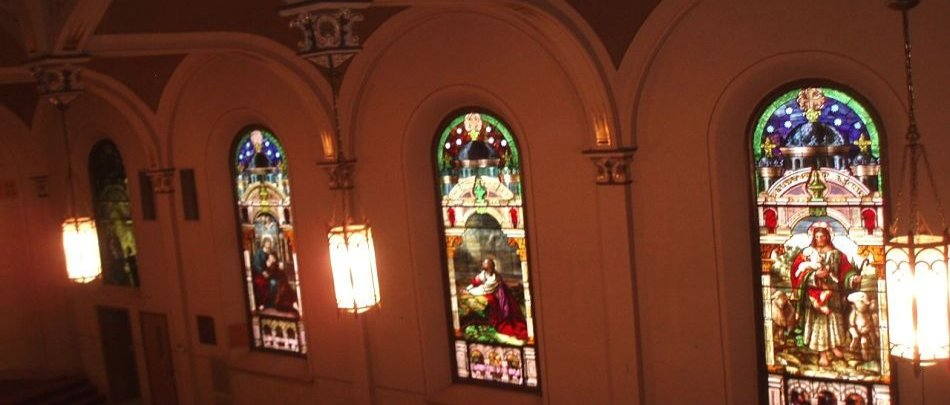 stained glass of jesus christ