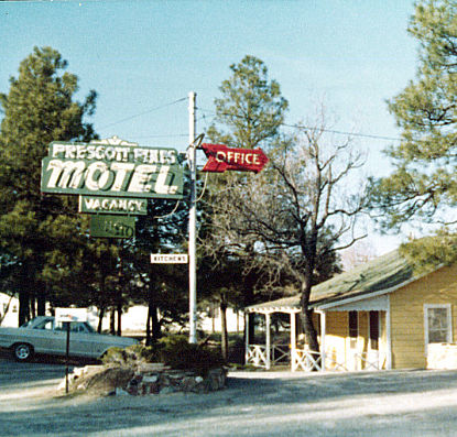 Old Prescott Pines Motel Sign