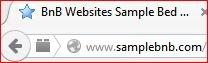 Your BnBwebsites site's URL