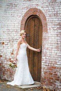 cornwall bride walking down stairwell