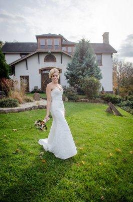 bride and groom at cornwall inn