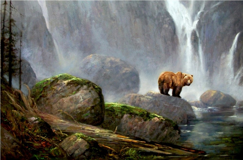 Image of: Ernst Dave Merrill Bear Art Icanvas Artist Dave Merrill Animal Art Nature Art Landscape Art