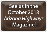 See us in the October 2013 Arizona Highways Magazine!