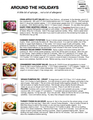 Preview of holiday recipes page