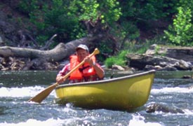 Canoeing at Smoke Hole Resort