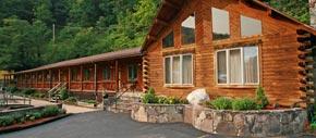 Log Motel at Smoke Hole Resort