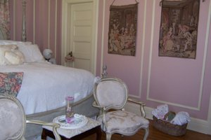 bedside view of the Princess Victoria room