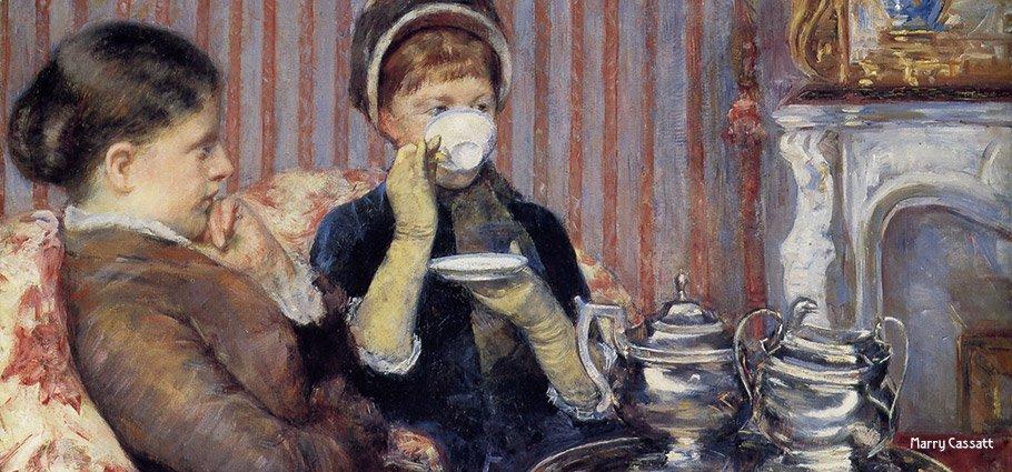 Tea Room Mary Cassett Painting
