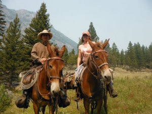 mules and riders