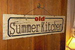 Old Summer Kitchen Sign