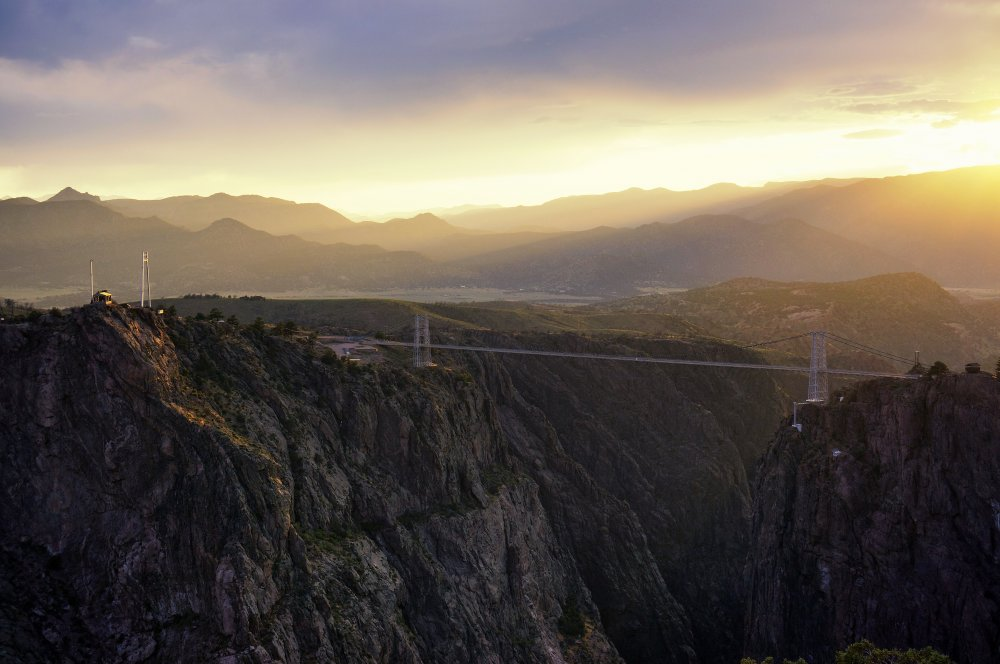 Royal Gorge Bridge at Sunset