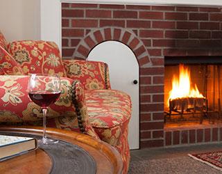 Fireplaces at Garden Gables Inn in Lenox, MA