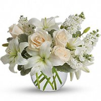 Creme and White Roses Floral Arrangement