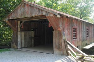 Covered Bridge at Historic Clifton Mill Near Hearthstone Inn & Suites