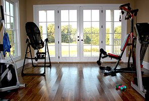fitness room at The Inn at Rosehill in Monroe, North Carolina