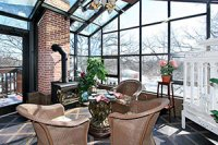 Penthouse Condo Solarium room Thorwood rentals and retreats interior