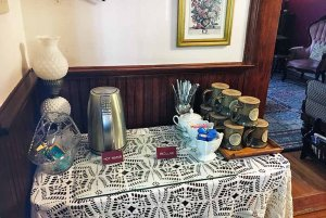 Coffee stirrers and flavoring on refreshment table