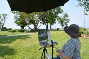 Black Walnut Point Inn Area painter