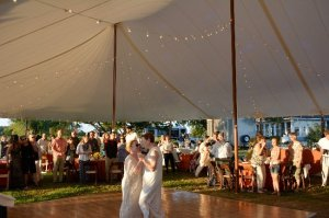 Black Walnut Point Weddings two brides dancing