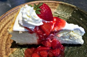 Pie with Strawberries & Whipped Cream