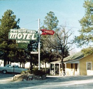 Old Prescott Pines Inn Sign