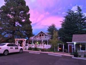 Sunset behind Prescott Pines Inn
