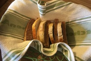 Canyons Bed and Breakfast homemade bread in a basket