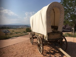 A covered wagon