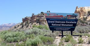 Grand staircase-Escalante national monument sign